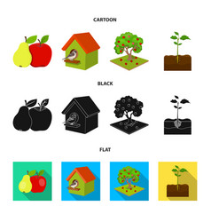 Garden farming nature and other web icon in vector
