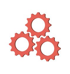 Gears machinery working vector