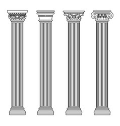 Greek and roman architecture classic stone colomns vector