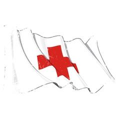 Grunge Flag of Red Cross vector