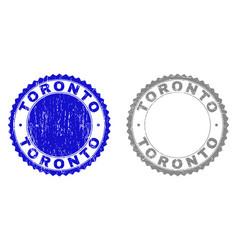 Grunge toronto scratched watermarks vector