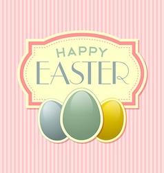 Happy Easter retro template vector image