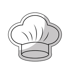 hat chef uniform isolated icon vector image