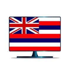 Hawaii flag tv vector