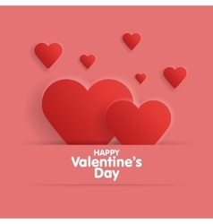 Heart from paper Valentines day card vector image
