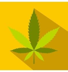 Hemp leaf icon flat style vector image