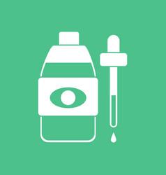 Icon eye drops icon vector