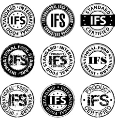 International food standard stamp vector