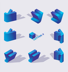 Large collection of creative isometric 3d vector