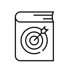 Learning goal line icon concept sign outline vector