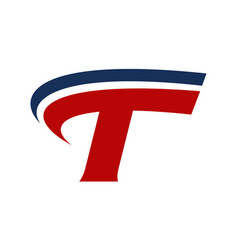 letter t logo design template vector image