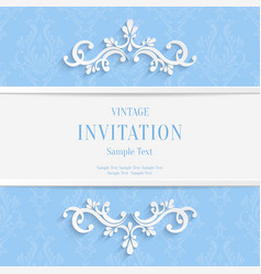 Light Blue Floral 3d Christmas and vector image
