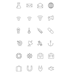 Line icons 10 vector