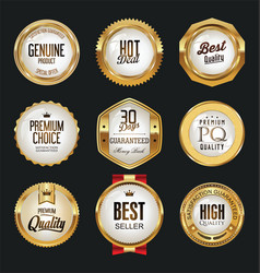 Luxury white labels collection 1 vector