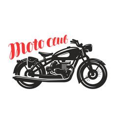Motorcycle motorbike silhouette moto club logo vector