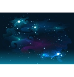 Night starry sky Stars and space Dark abstract vector image