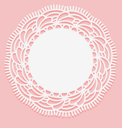 Openwork lace doily template for laser cutting vector