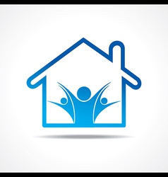 People icon in a home vector