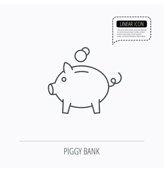 Piggy bank icon Money economy sign vector image