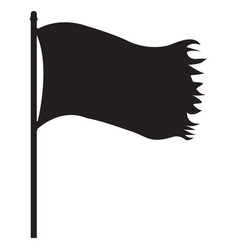 Pirate black flag vector