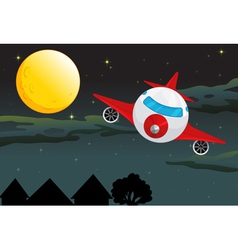 Plane Night flying vector image