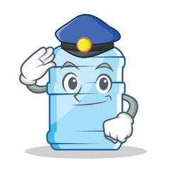 Police gallon character cartoon style vector