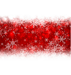 Red winter background with snowflakes vector image