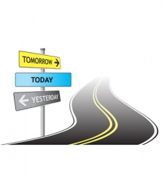 Road and signs vector