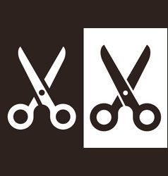 scissors symbol set vector image