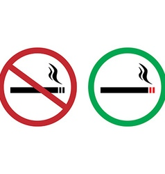 Smokings signs vector image