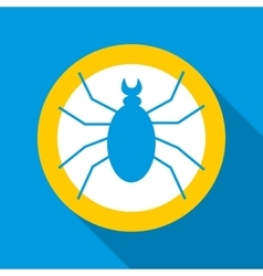 Spider icon flat style vector