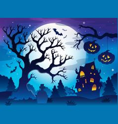 Spooky tree theme image 8 vector