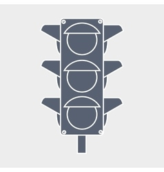 traffic light design vector image