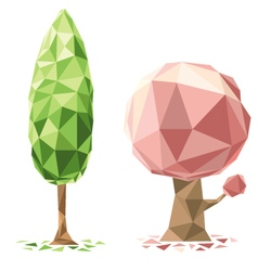 tree polygon vector image