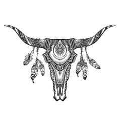 tribal animal skull vector image