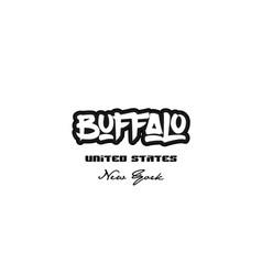 United states buffalo new york city graffitti vector