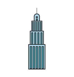 Urban building tower skyscraper antenna icon vector