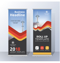 Vertical roll up banner template design for vector