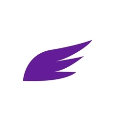 Violet wing icon simple style vector image