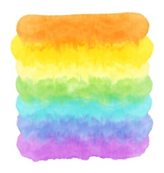 Watercolor rainbow vector