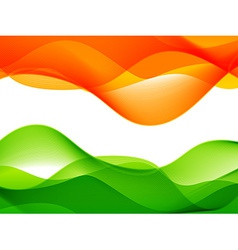 wave style indian flag design vector image