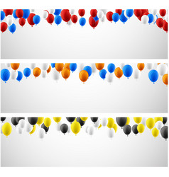 white banners with colorful balloons vector image