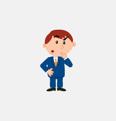 white businessman doubting vector image