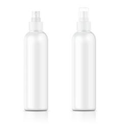 White sprayer bottle template vector image