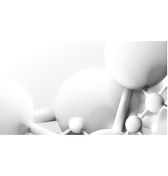 white structure molecule or atom abstract science vector image
