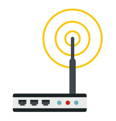 Wifi router icon isolated vector