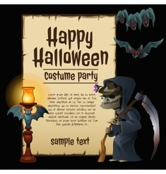 Witch party costumes happy Halloween vector