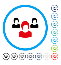 woman group rounded icon vector image