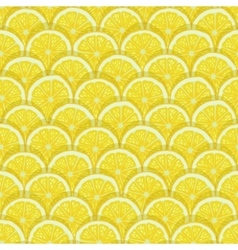 yellow lemon slices seamless pattern vector image