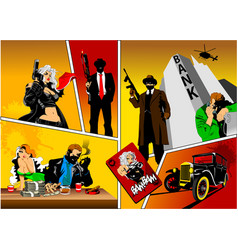 history of gangsters vector image